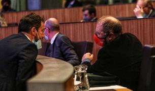 Pere López i Jordi Font, a la sessió del consell d'avui