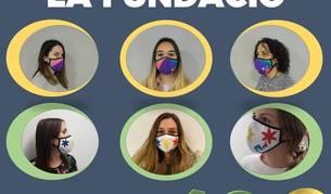 El cartell promocional de les mascaretes solidàries de la Fundació Tutelar.