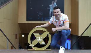 Toni Bou posant per al Diari al Centre de Congressos d'Andorra la Vella.