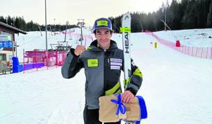 Joan Verdú, en una imatge a Berchtesgaden, Alemanya, on va assolir el cinquè lloc en Copa d'Europa.