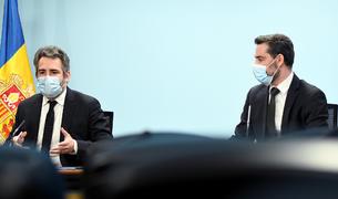 El ministre Eric Jover i el secretari d'Estat Marc Ballestà