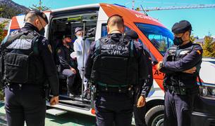 Proves de tests d'antígens a policies espanyols dilluns a Soldeu
