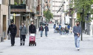 El carrer de Callaueta d'Andorra la Vella, plenament reformat.