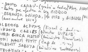 Les notes de Villarejo.