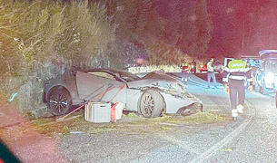 Estat en què va quedar el vehicle després de l'accident.