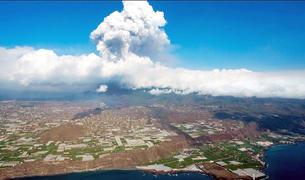 Plomall de cendres del volcà Cumbre Vieja.