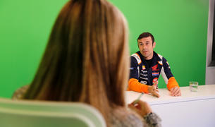 El pilot resident i campió del món, Toni Bou, en un moment de l'entrevista d'ahir a l'espai 'Parlem-ne', a Diari TV.