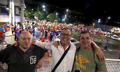 La comunitat portuguesa celebra el triomf de la selecció