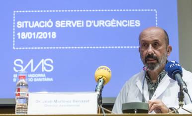 El doctor Martínez Benazet ha explicat els canvis per millorar la situació a Urgències