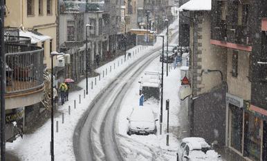 L'avinguda Doctor Mitjavila d'Andorra la Vella aquest matí