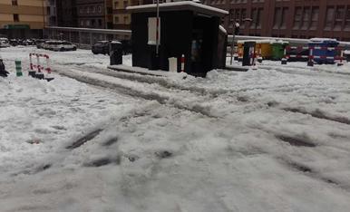 Estat de l'aparcament de la Creu Blanca d'Escaldes a les 11.19h