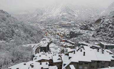 Vista de la vall central des d'Engolasters