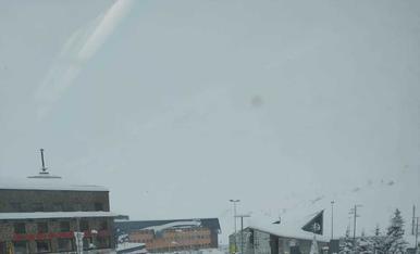 La nevada va deixar aquesta estampa del Pas dimecres