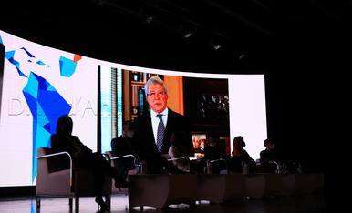 Enrique Cerezo, empresari i president de l'Atlètico de Madrid, ha intervingut telemàticament