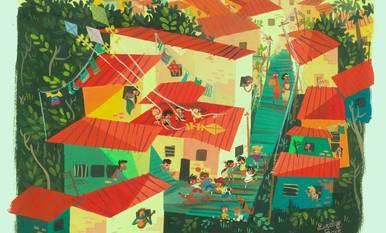 Dibuixos de l'artista exresident Lorelay Bové
