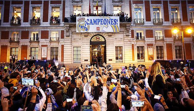 El Reial Madrid celebra l'onzena Copa d'Europa
