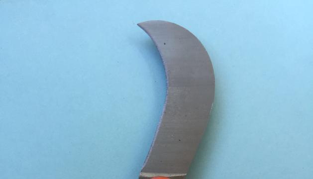 8. Quan vaig a la vinya, sempre porto aquest ganivet.