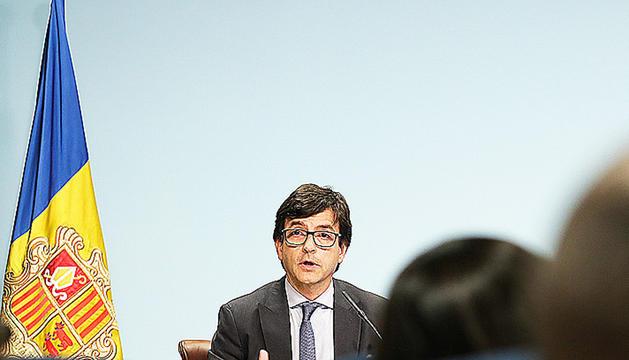 El ministre portaveu, Jordi Cinca, va comparèixer en roda de premsa.
