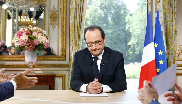 El president francès ha comparegut avui.