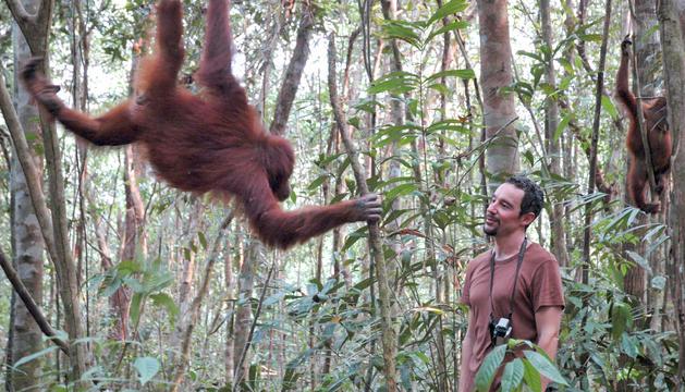 l'aGUSTÍ a la selva de Borneo, un dels darrers llocs on sobreviuen orangutans salvatges.