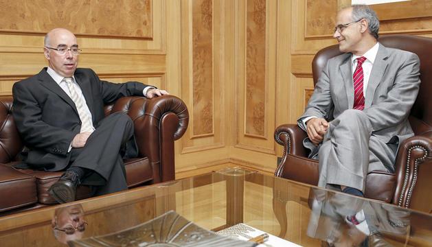 Manuel Montobbio amb Toni Martí.