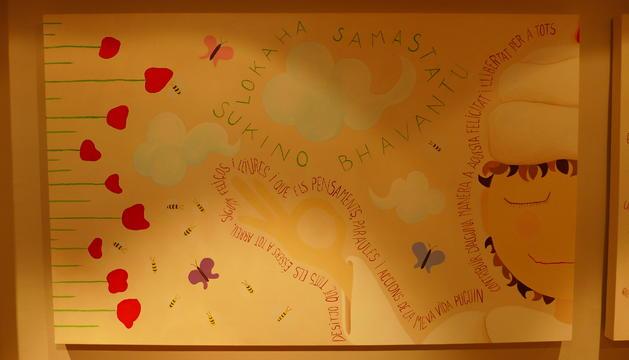 3. El ioga i la meditació formen part de mi. Aquest és un mural del centre de ioga que tenim.