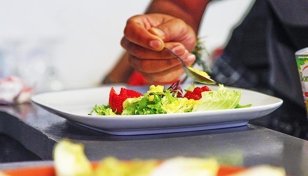 Un plat vegà d'un dels restaurants 'verds' d'Andorra.