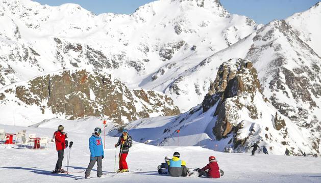 Esquiadors a Arcalís durant l'hivern passat.