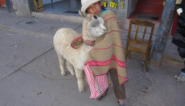 El nen amb l'alpaca de Chivay (Perú) que va sorprendre Francesc Figuera