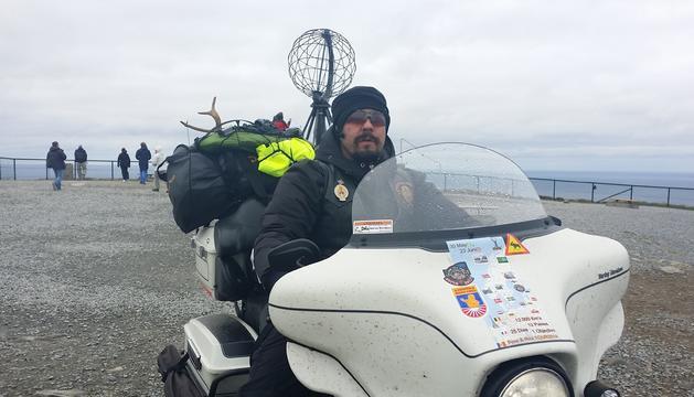 Pere Tavares no es planteja  un viatge sense la Harley-Davidson