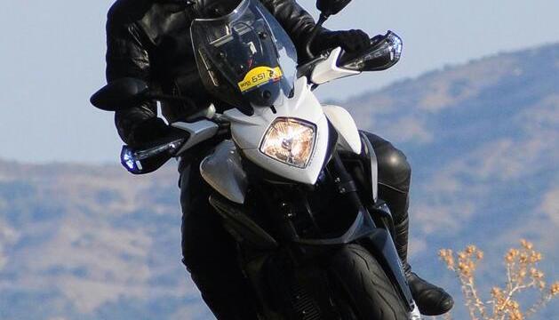 Miquel Canturri en un dels seus viatges en moto.