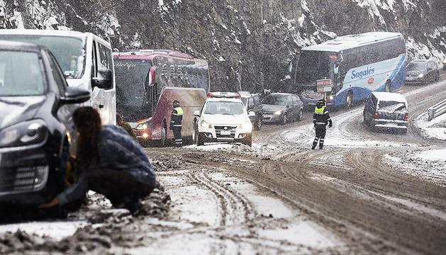 Les nevades són un dels reptes pel trànsit.