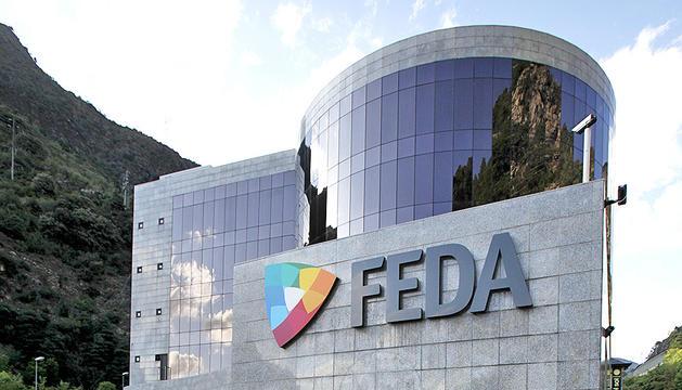 Una façana de l'edifici de FEDA a Encamp.