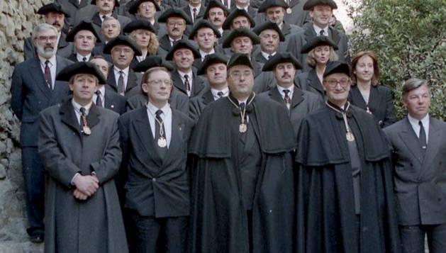 La foto de família el dia de la votació, el 3 de febrer del 93.
