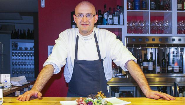 Patrick Marriot és el cuiner del restaurant l'Enoteca.