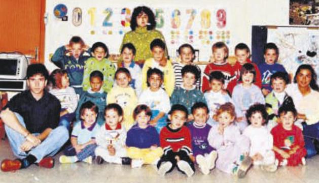 Un grup d'alumnes d'un dels primers cursos.