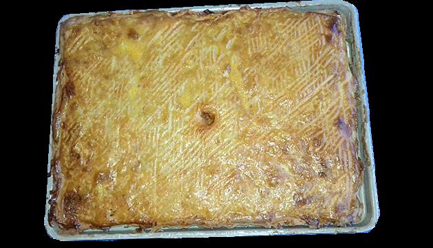 Empanada de bolets i pollastre