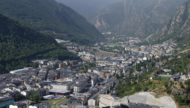 Vista de les valls centrals.