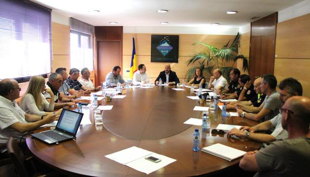 Jordi Torres ha presidit la trobada, que també ha comptat amb la participació de Xavier Espot, així com Sílvia Calvó.