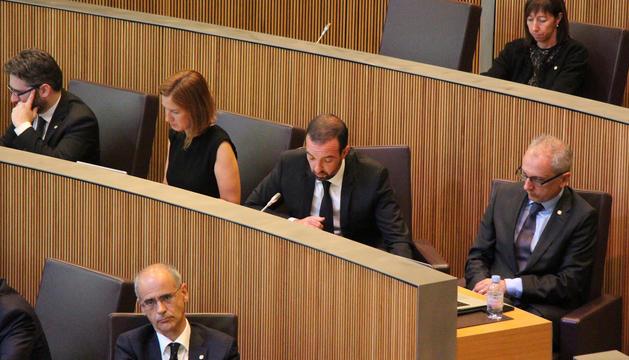 El ministre d'Ordenament Territorial, Jordi Torres, durant la seva intervenció al Consell General d'aquest matí.