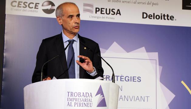 El cap de Govern, Toni Martí, durant la seva intervenció.