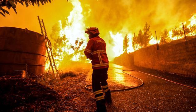 Més de 2.000 efectius treballen en l'extinció del foc.