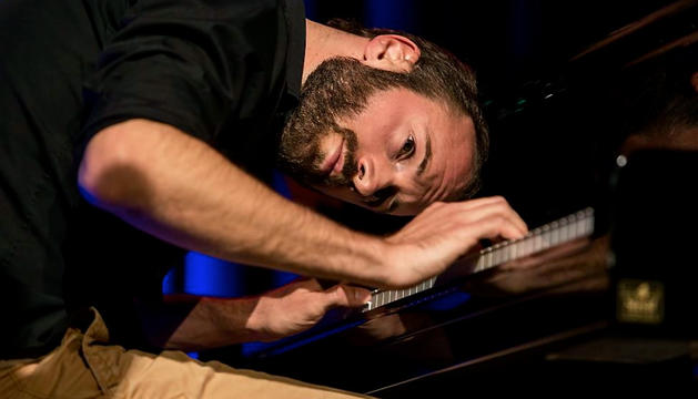 El pianista David Six en un dels seus concerts.
