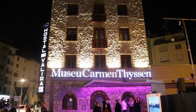 Vista exterior del Museu Carmen Thyssen Andorra.
