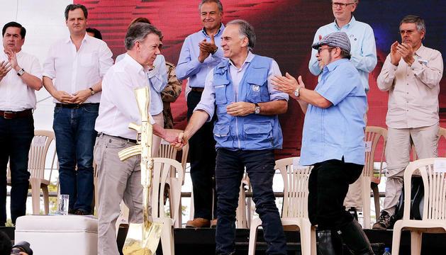 L'acte es va celebrar a Mesetas, feu històric de la guerrilla.