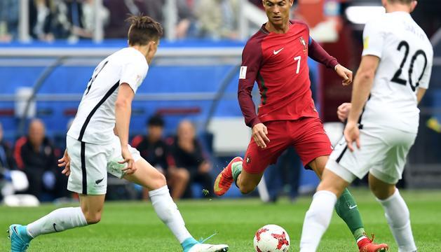 Cristiano Ronaldo en el darrer partit de la fase de grups davant Nova Zelanda.