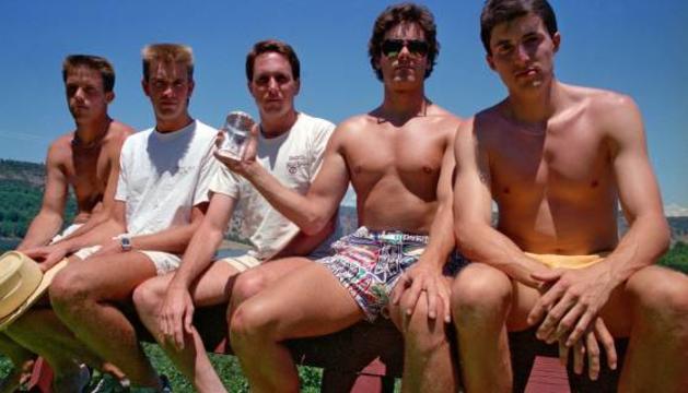 Els cinc amics l'any 1987