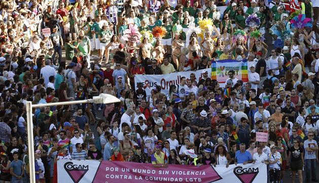 Milers de persones es van manifestar pels carrers de Madrid.