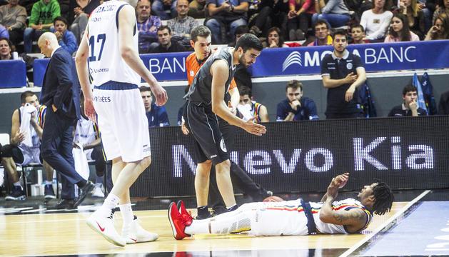 Jaime Fernández en un duel contra el MoraBanc.