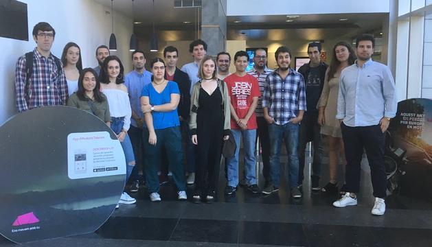 Els joves que treballaran d'eventuals aquest estiu a Andorra Telecom.